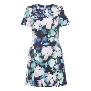 NWT French Connection Blue Floral Sheath Dress
